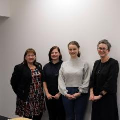 Professor Helen McCutcheon, Ms Tahlia van Raders, Ms Stephanie Davidson, and Professor Sarah Roberts-Thomson